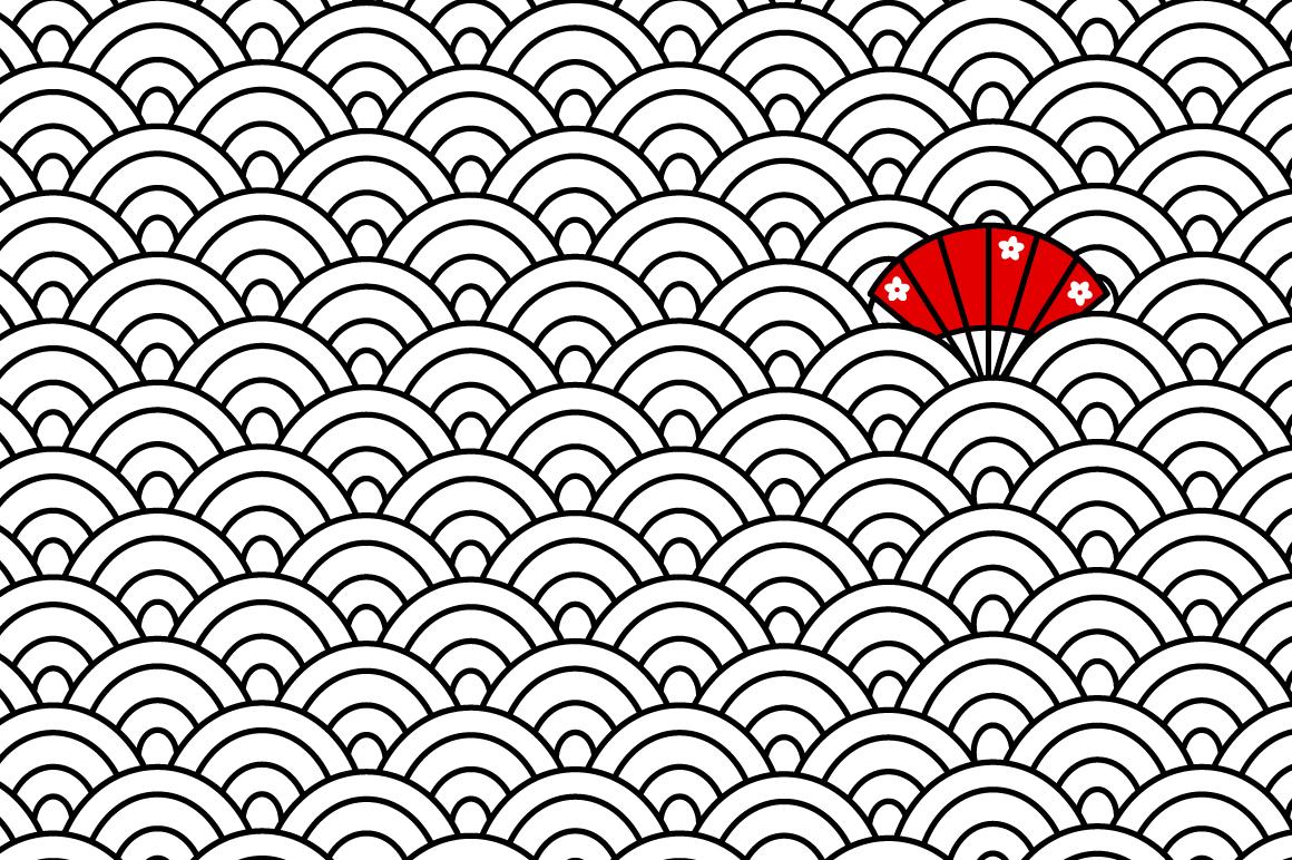 Japanese motif patterns example image 4