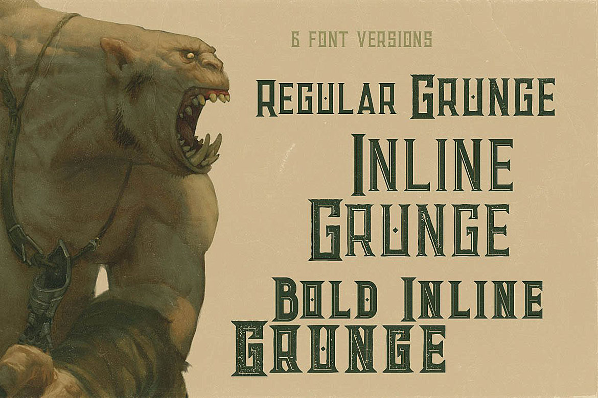Giant - Vintage Style Font example image 2