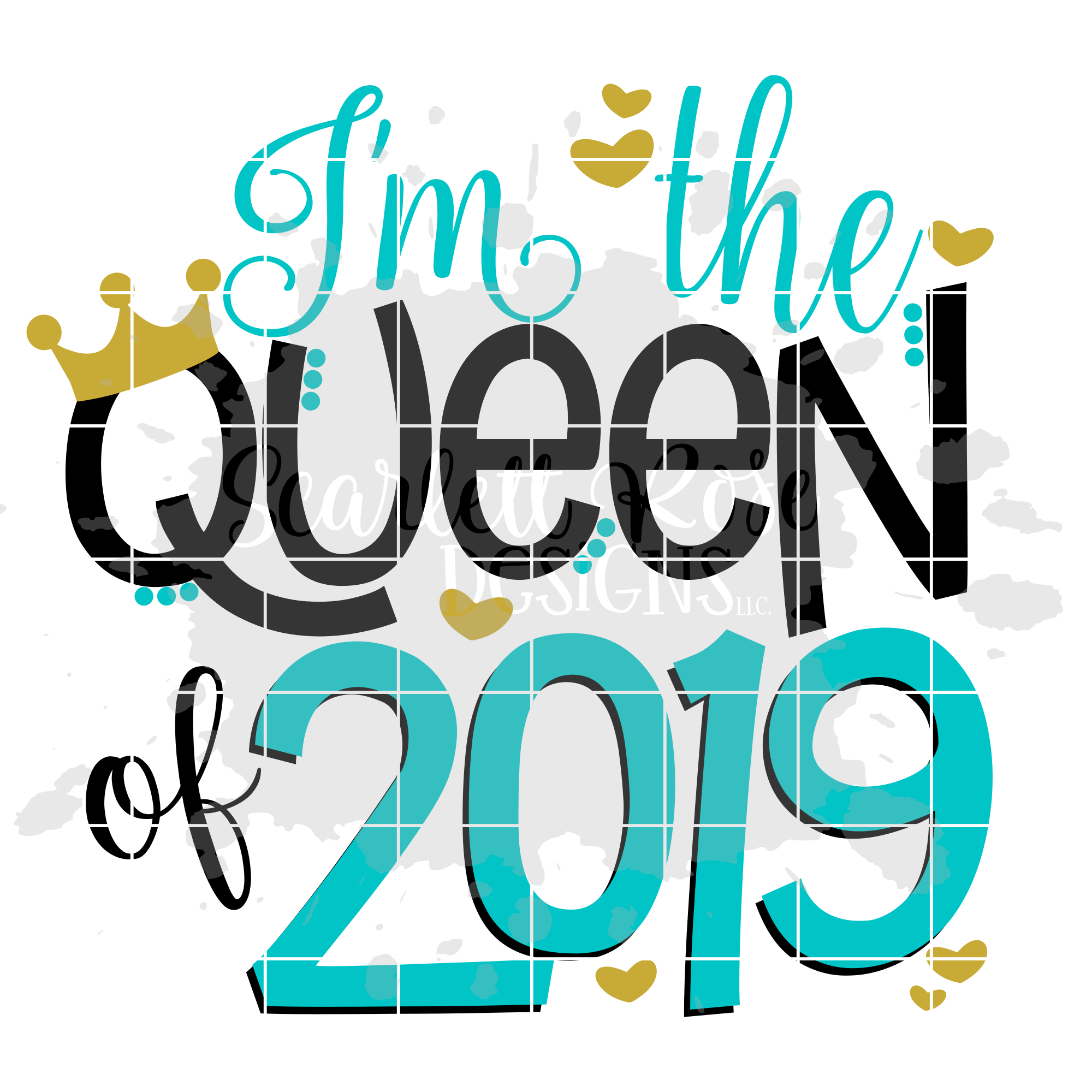 I'm The Queen of 2019 - New Year's SVG example image 2