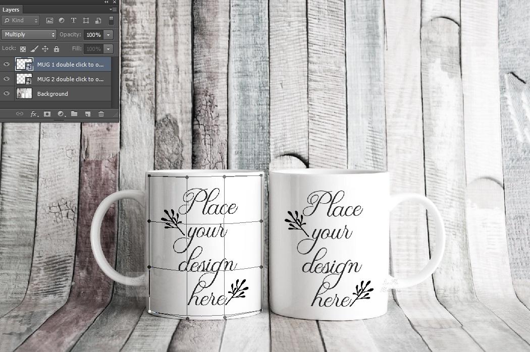 4x Bundle mug mockup PSD sublimation 11oz mugs mockups example image 3