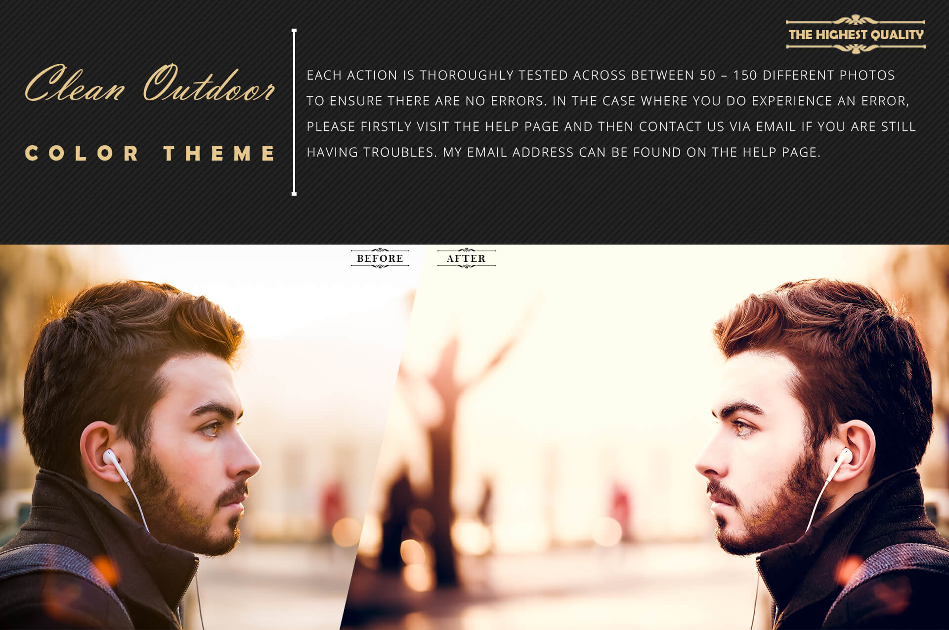 Neo Clean Outdoor Color grading Photoshop Actions example image 6