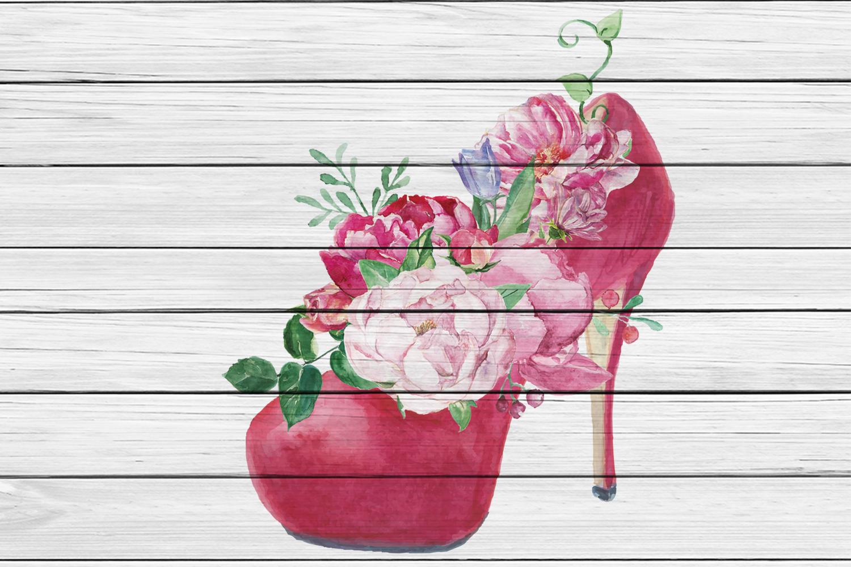 Watercolor Romantic Bouquet clip art example image 5