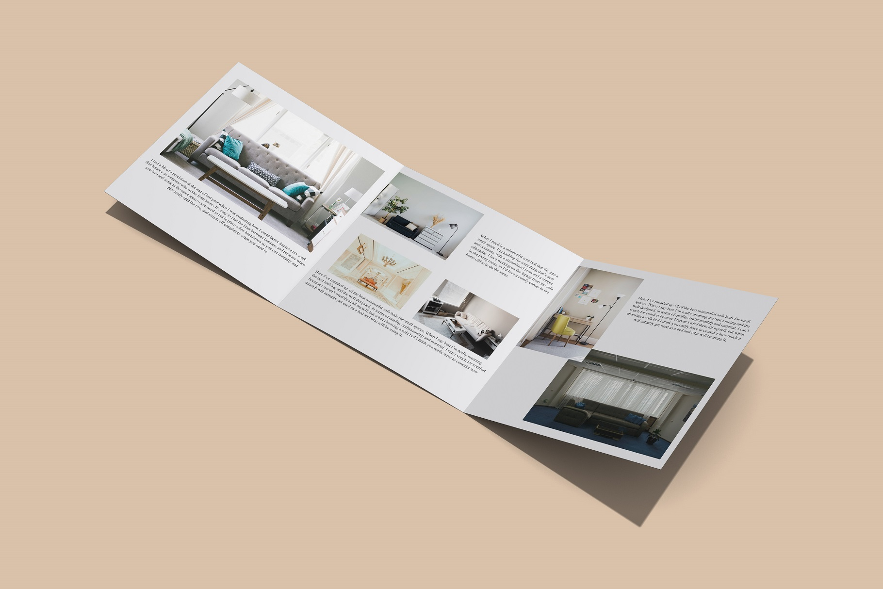 Square Trifold Brochure Mockup example image 5