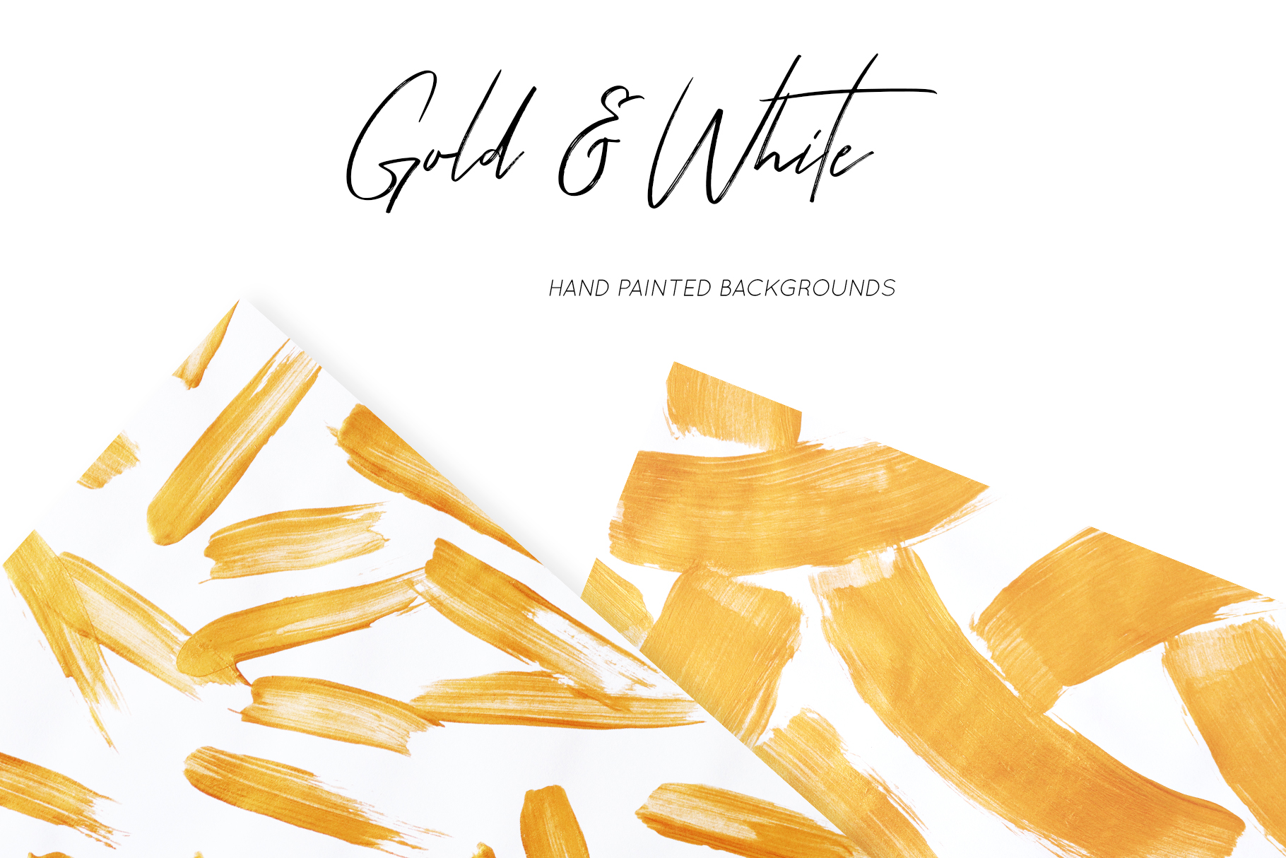 Gold & White Backgrounds, Wedding Invitation Papers example image 6