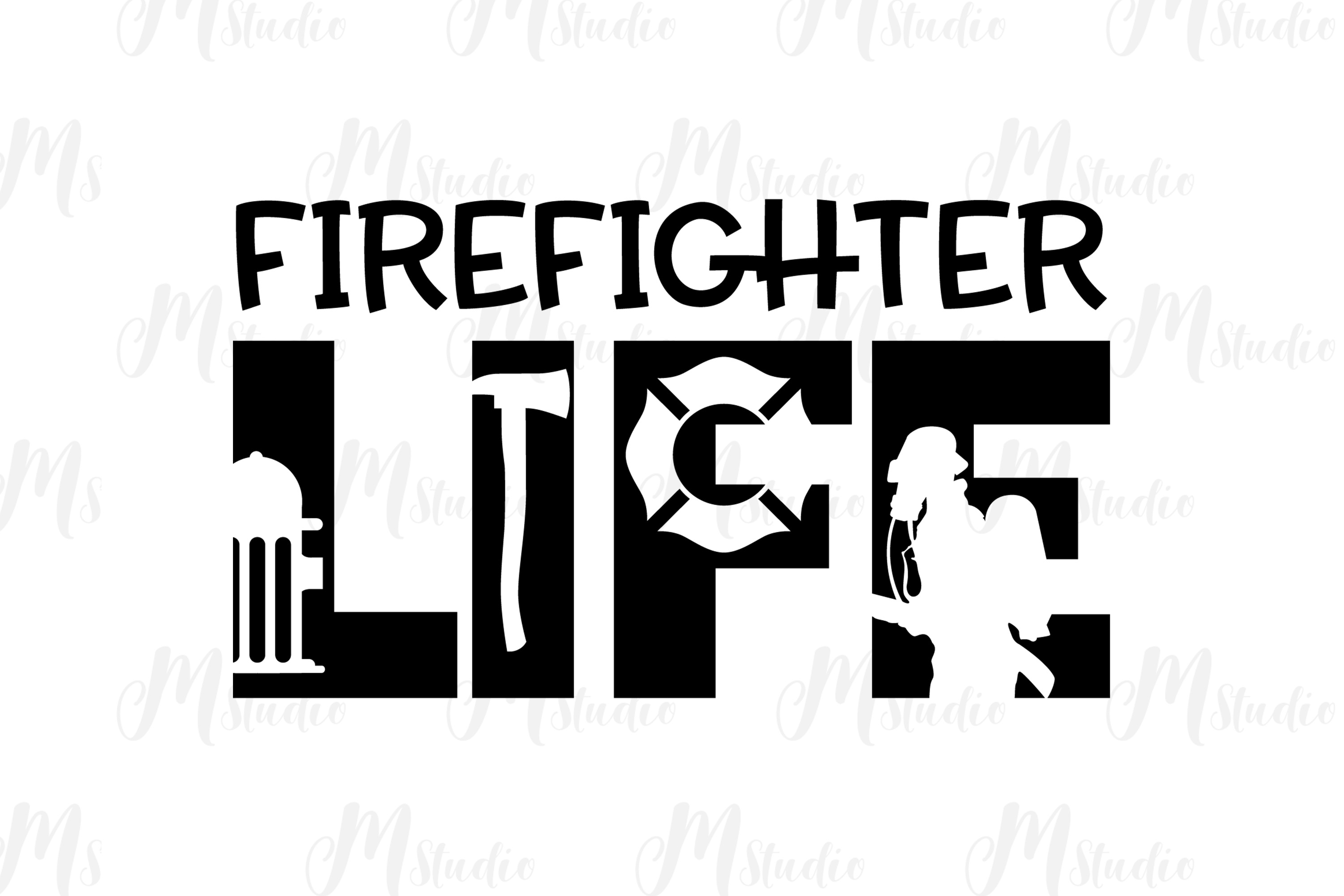 Firefighter SVG bundle example image 9