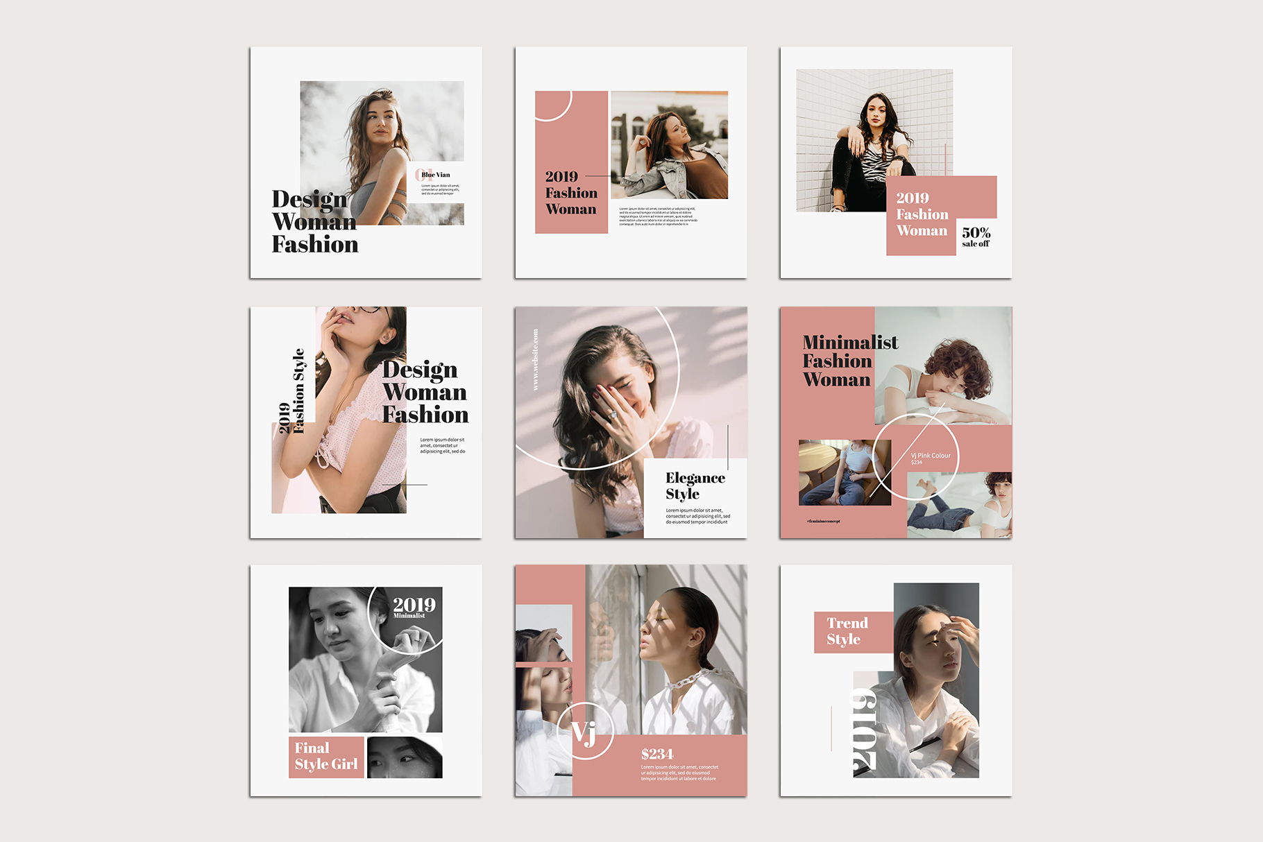 Fashion Instagram Templates example image 9