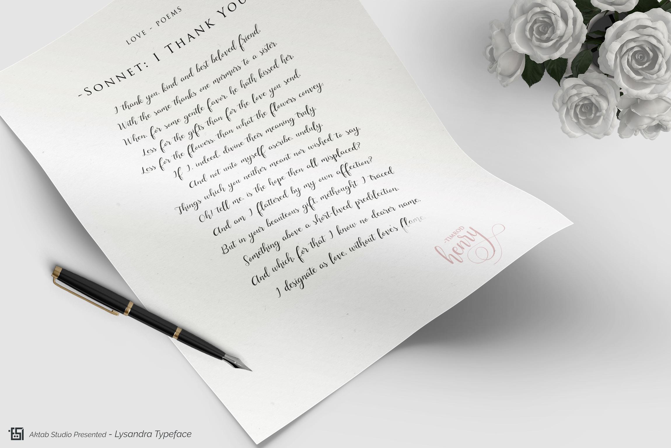 Lysandra Script Typeface example image 11