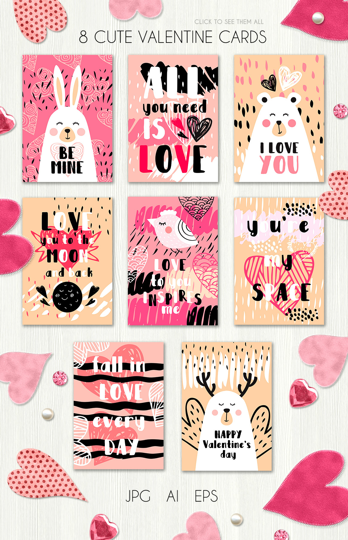 Valentine's day - vector kit example image 2