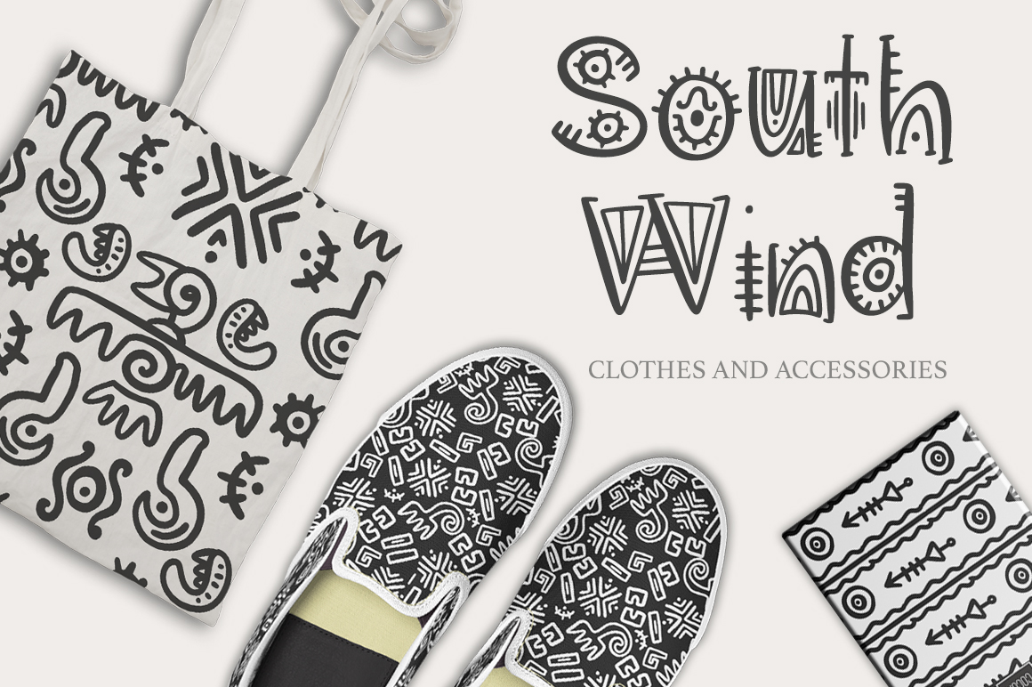 Aztec Soul. Tribal font with extras. example image 2