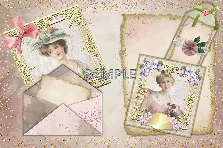 Shabby Chic Vintage Journaling Kit & Free Ephemera & clipart example image 5