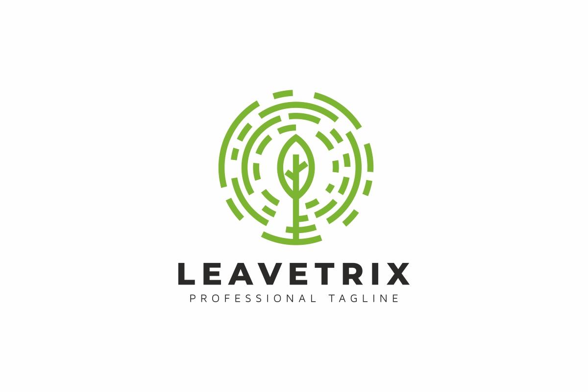 Leaves Circle Tree Logo example image 1