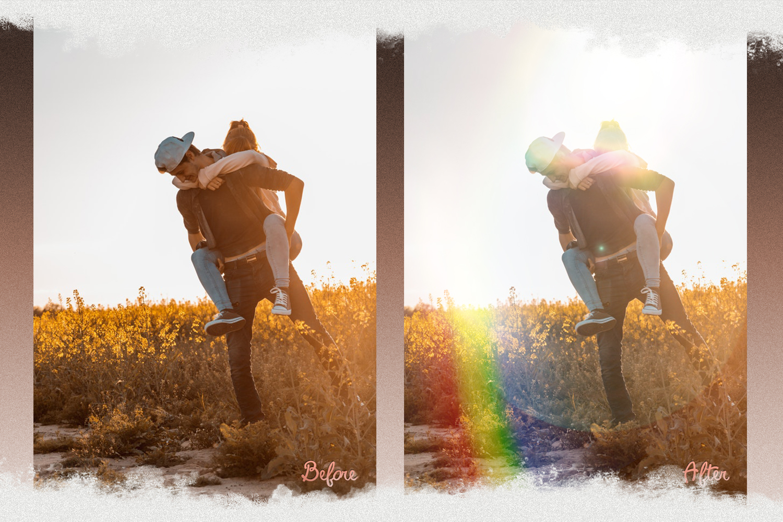 Rainbow overlays & textures, rainbow action, rainbow preset example image 3
