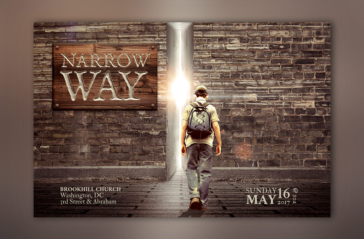 Narrow Way Flyer Poster Template example image 6