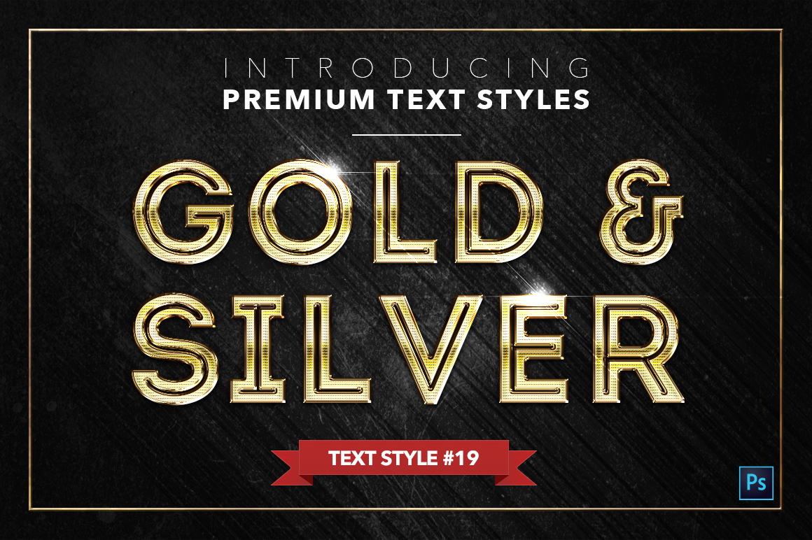 Gold & Silver #2 - 20 Text Styles example image 6