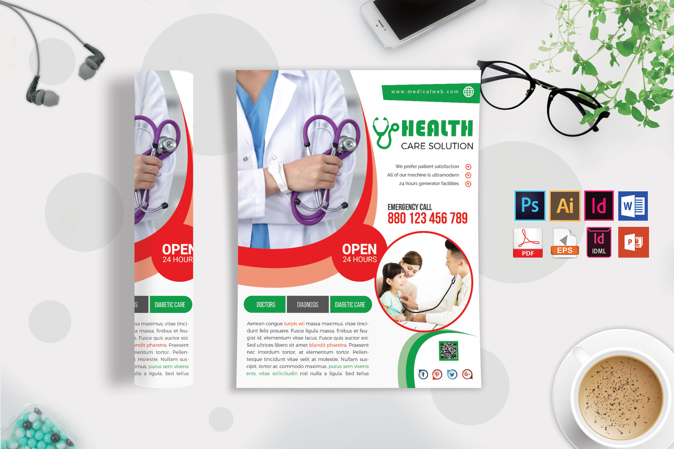 Doctor & Medical Flyer. Vol-05 example image 3