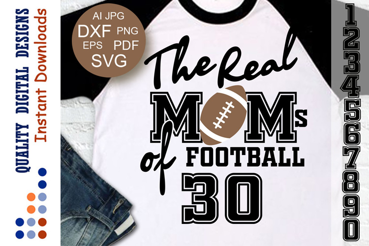 Football svg The Real Moms of Football example image 1