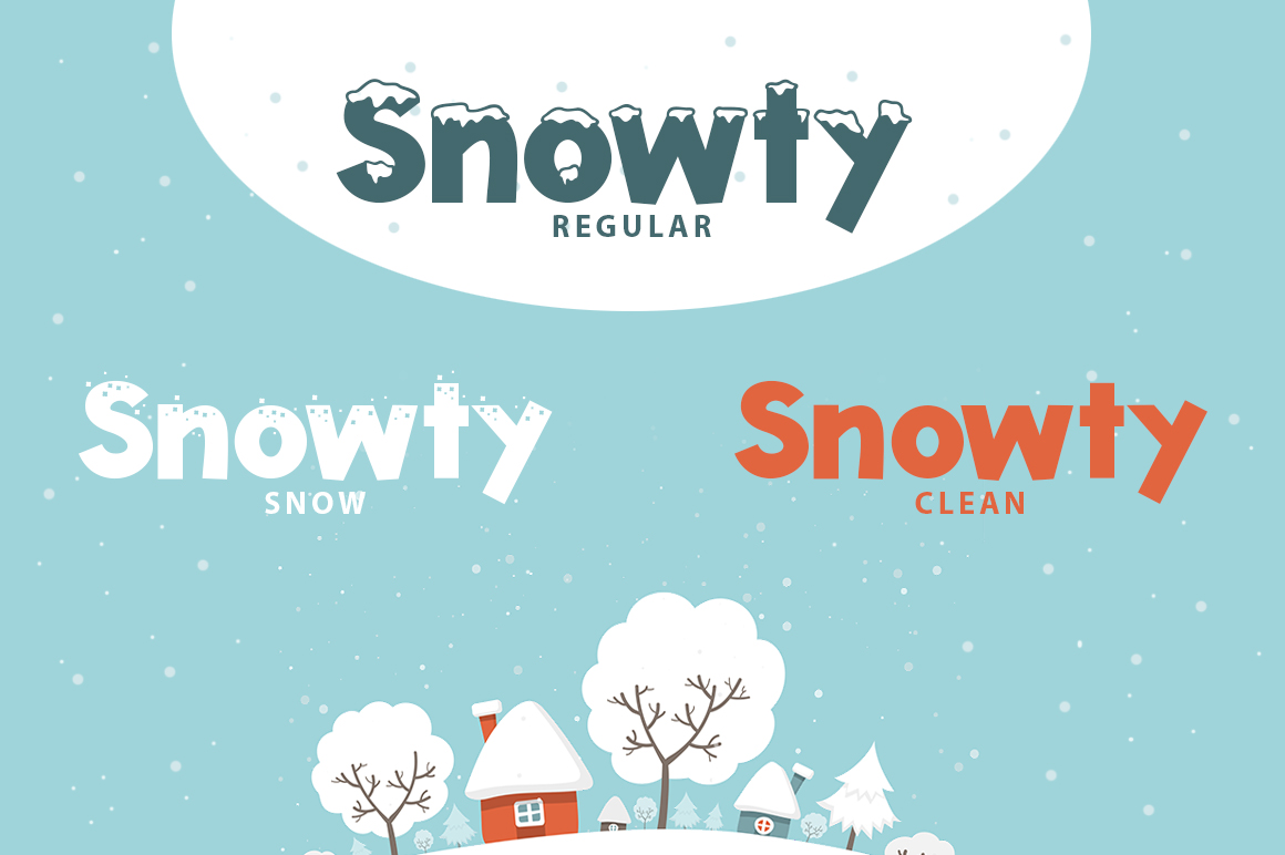 Snowty 3 Font example image 3