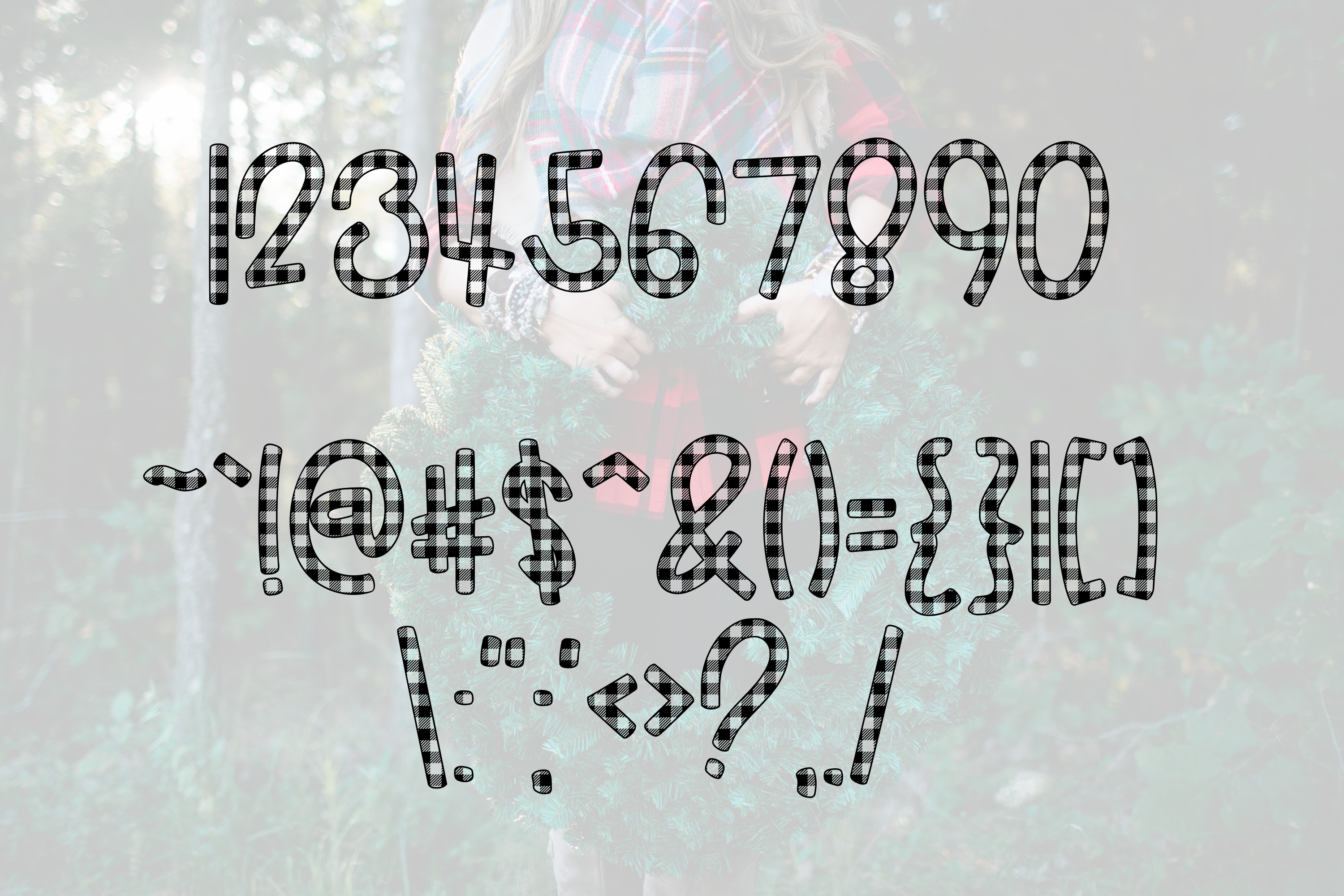 Buffalo Jane a Plaid Font example image 3