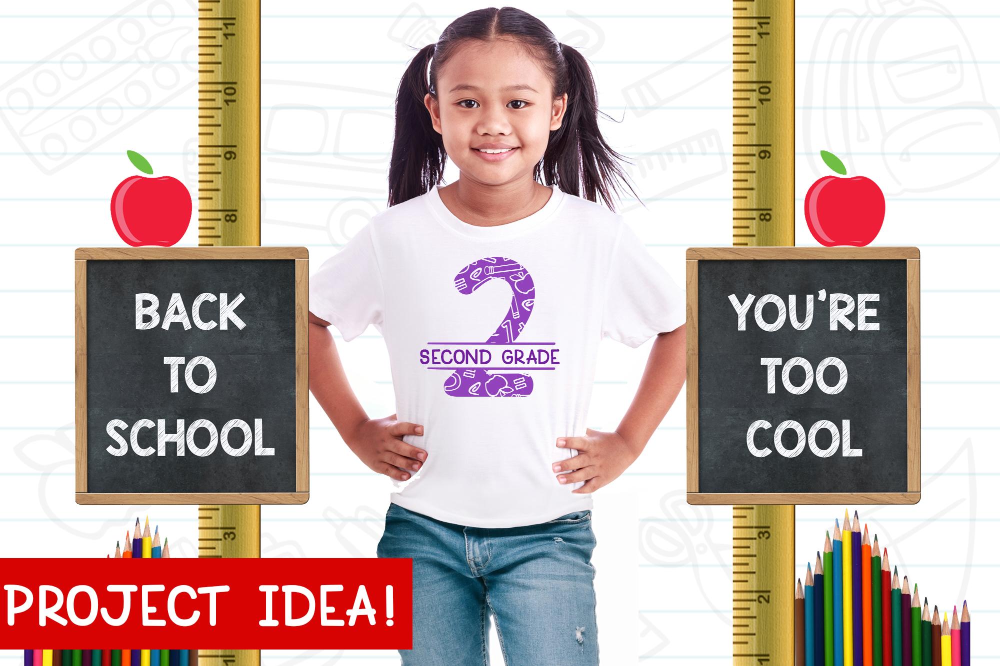 Schoolish Monogram Maker| Back to school font|Free Doodles example image 4