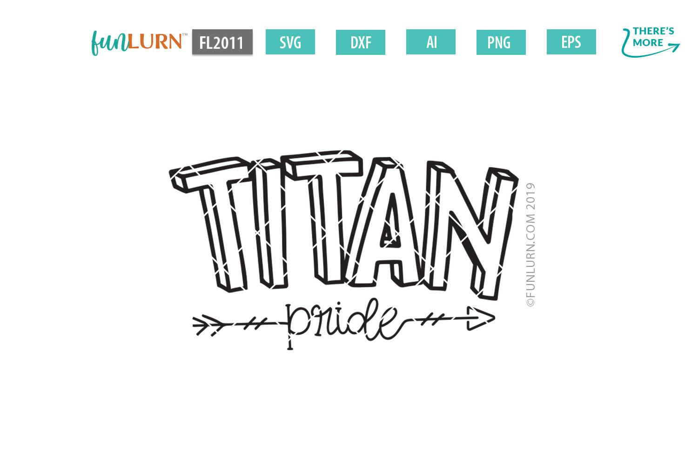 Titan Pride Team SVG Cut File example image 2