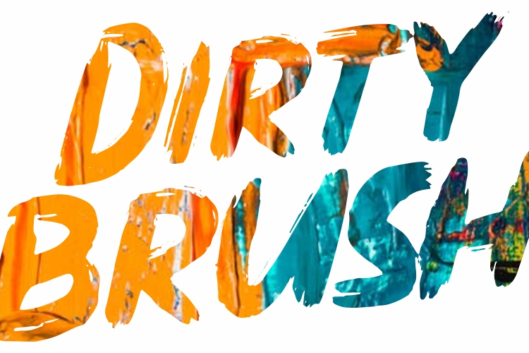 DIRTY BRUSH Font example image 11