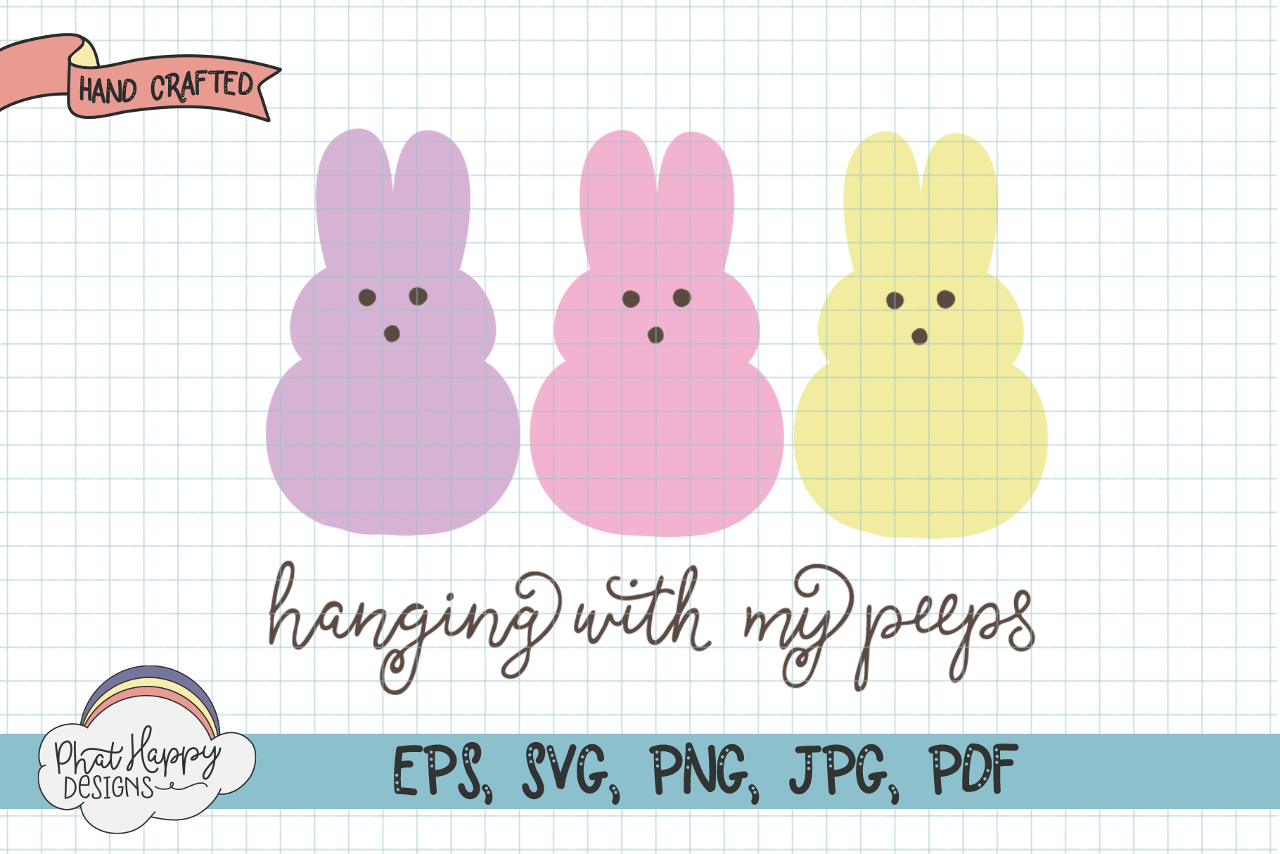 Mini Easter Bundle - 6 Hand Lettered Cut Files example image 7