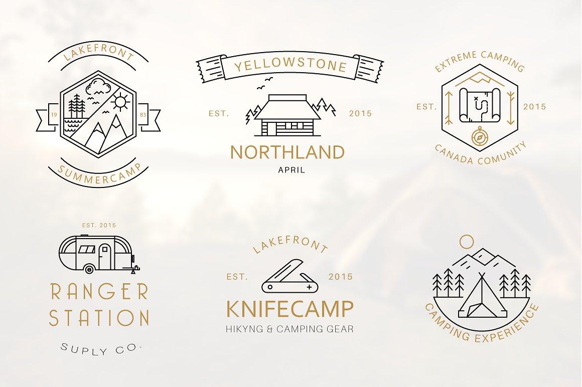 Mountain Logo | Camping Logos for Shirts | Camping Icon example image 1