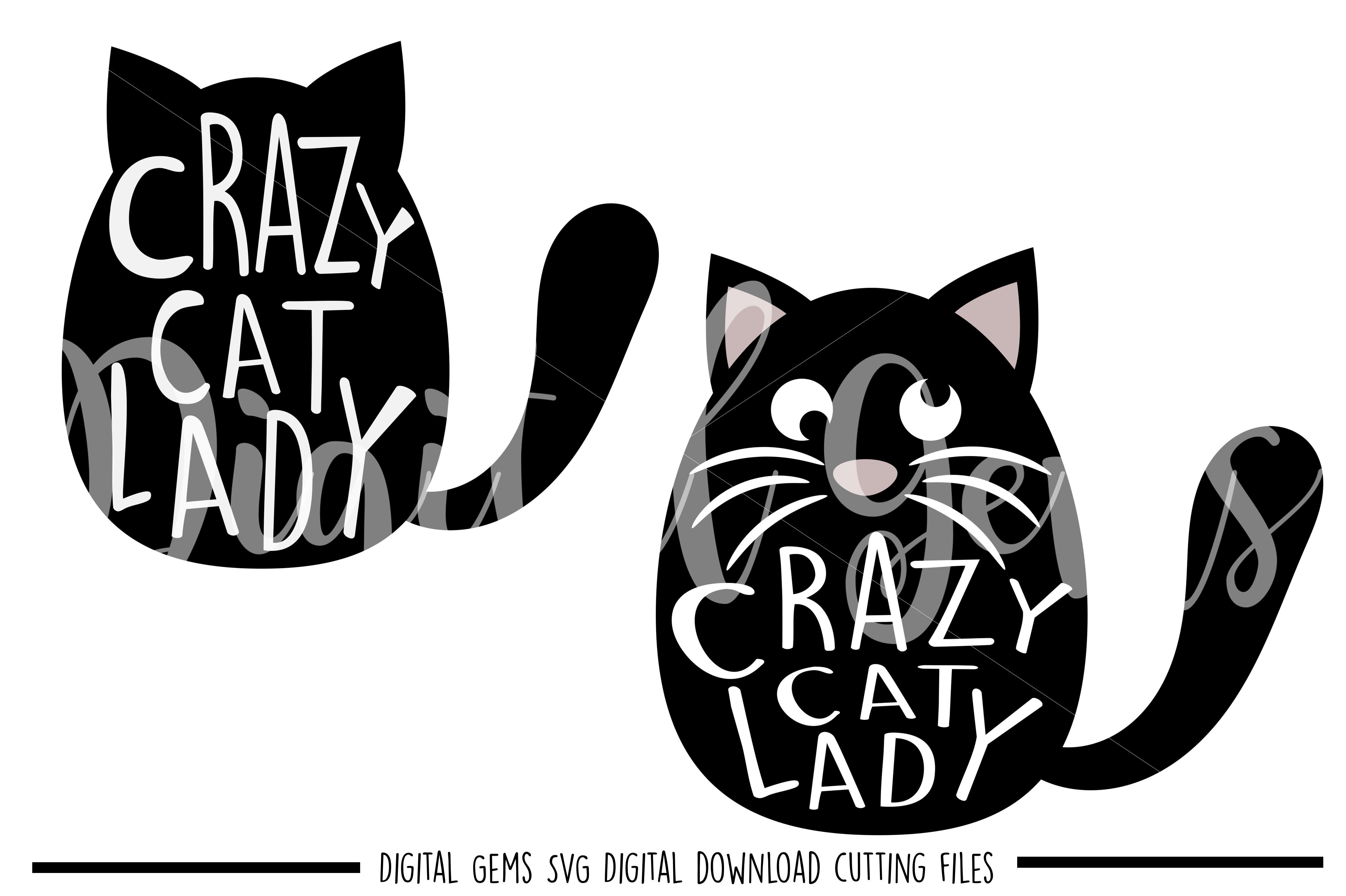 Crazy Cat Lady Svg Png Eps Dxf Files 48794 Svgs Design Bundles