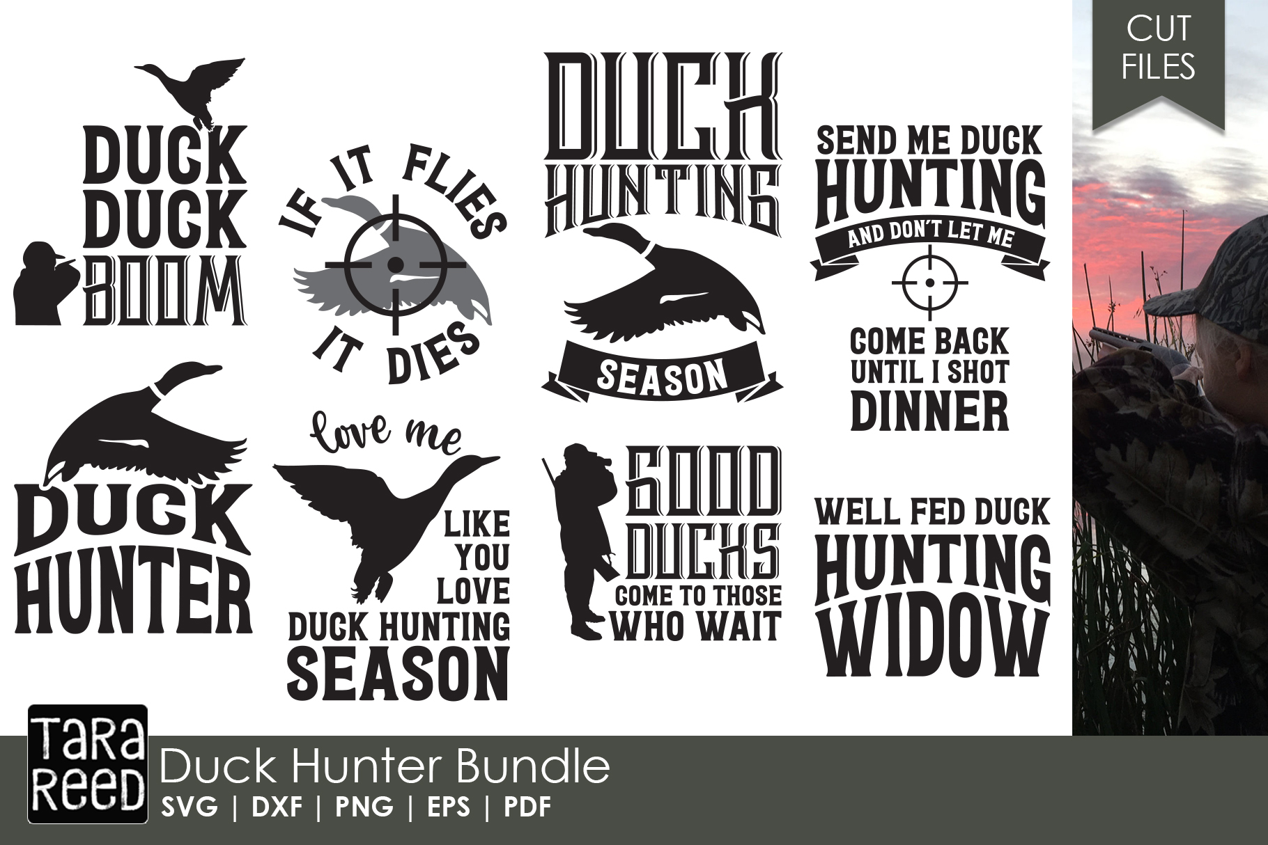 Duck Hunter - Hunting SVG and Cut Files for Crafters example image 1
