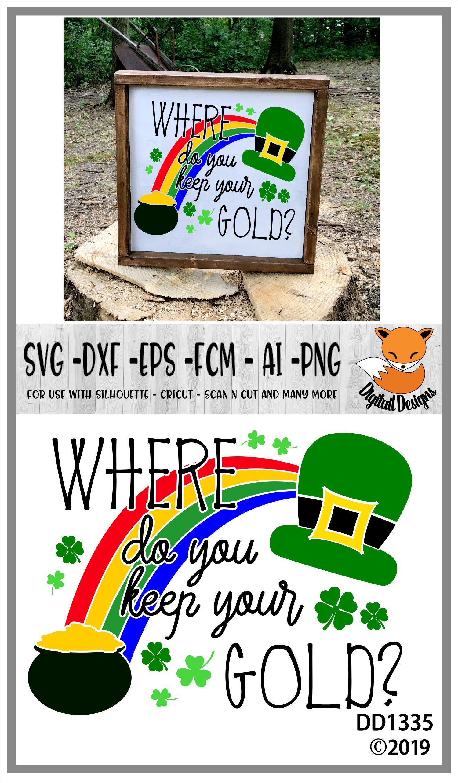 St Patrick's Day Irish Gold Leprechaun SVG example image 2