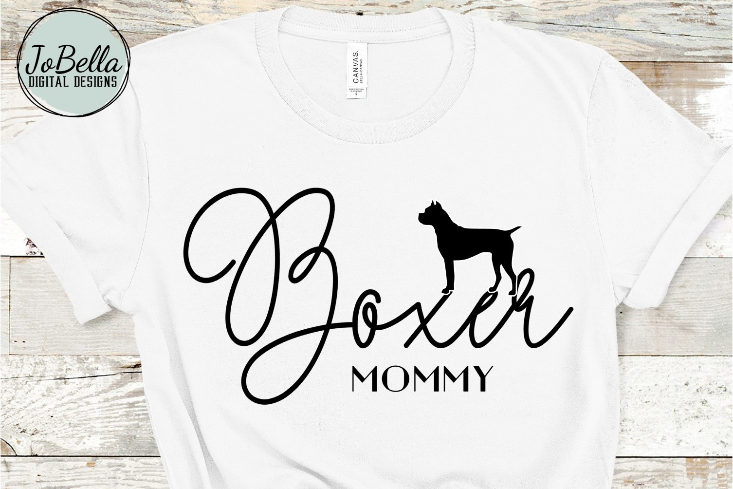 Boxer Mommy SVG and Printable Dog Lover Design example image 1