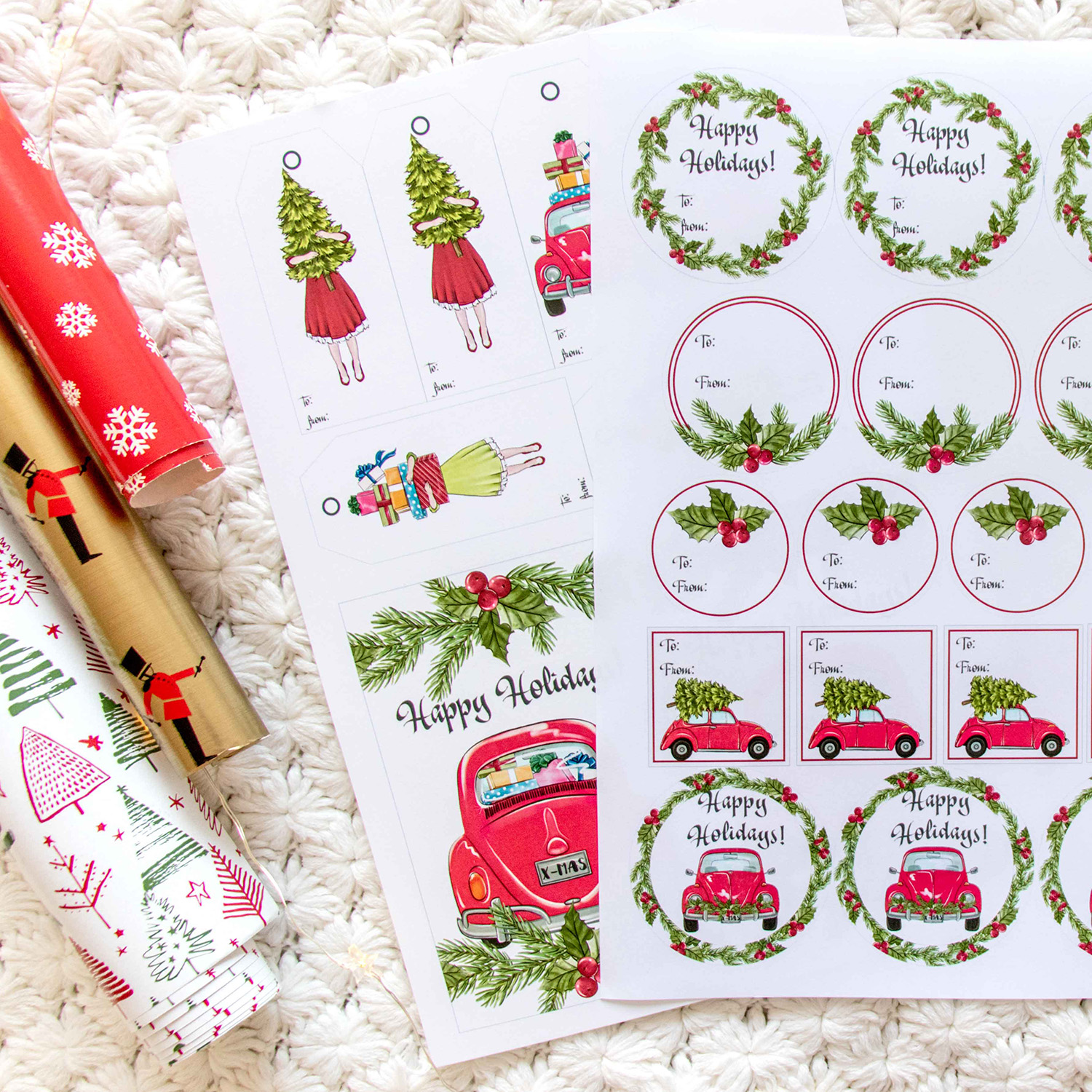 Christmas Gift Stickers Freebie Tags Cards Free DIY example image 2