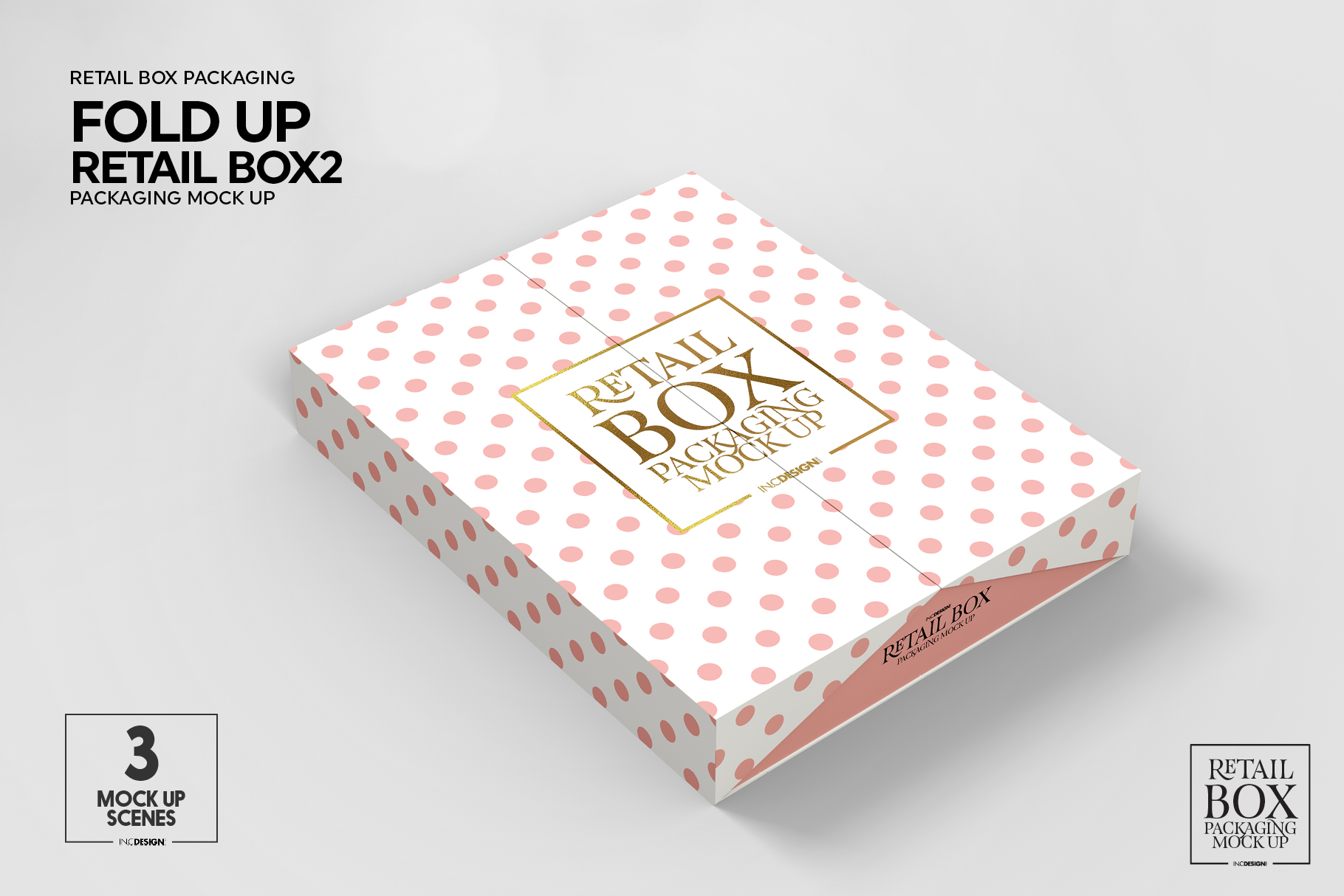 Fold Up Retail Thin Box Packaging Mockup example image 8