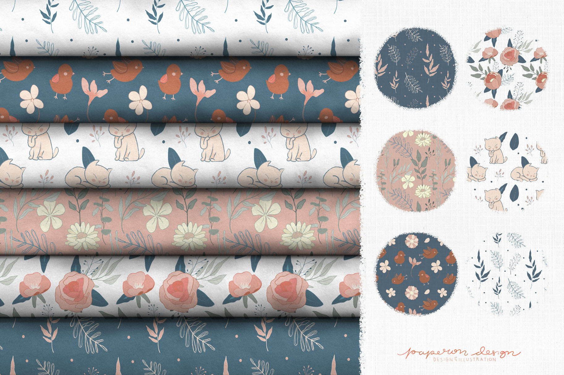 Dreamy Spring Cliparts & Patterns example image 5