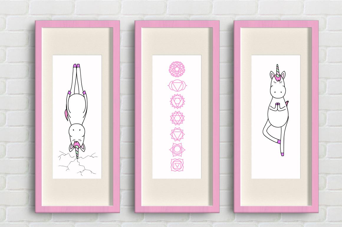 Unicorn's yoga set example image 6