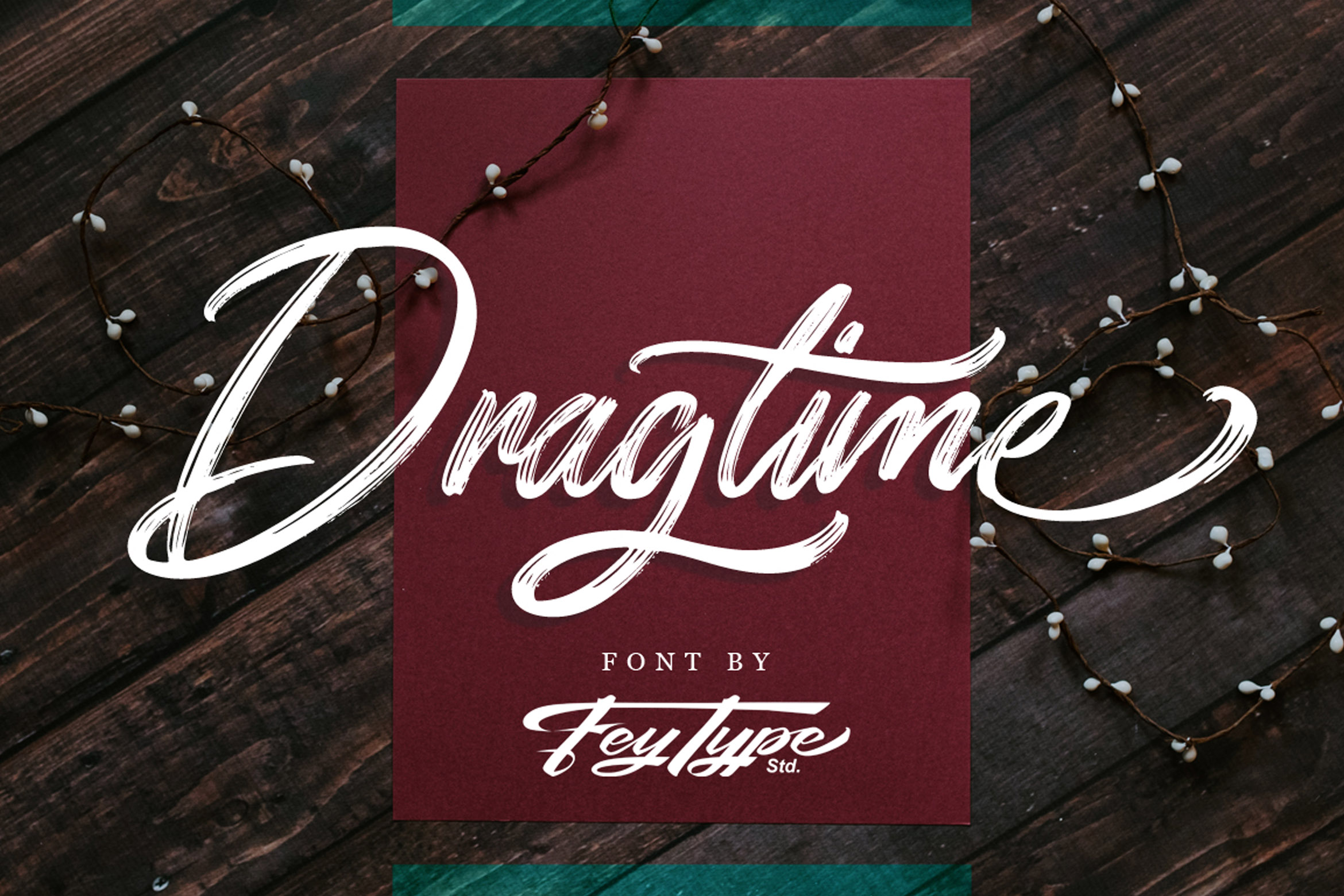 Dragtime - Handwritting Script Font example image 1