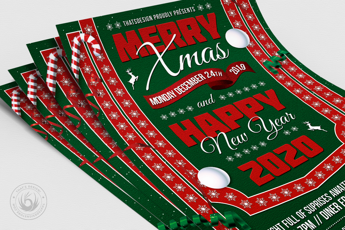 Christmas Eve Flyer Template V10 example image 5