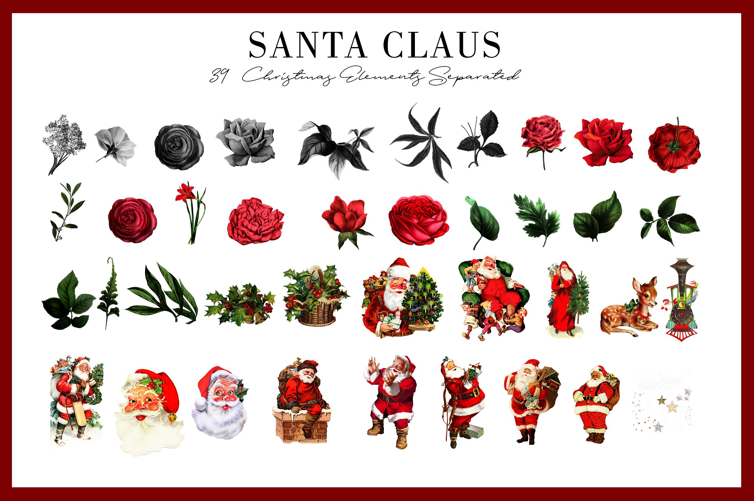 Santa Claus | 54 Clipart Elements example image 5