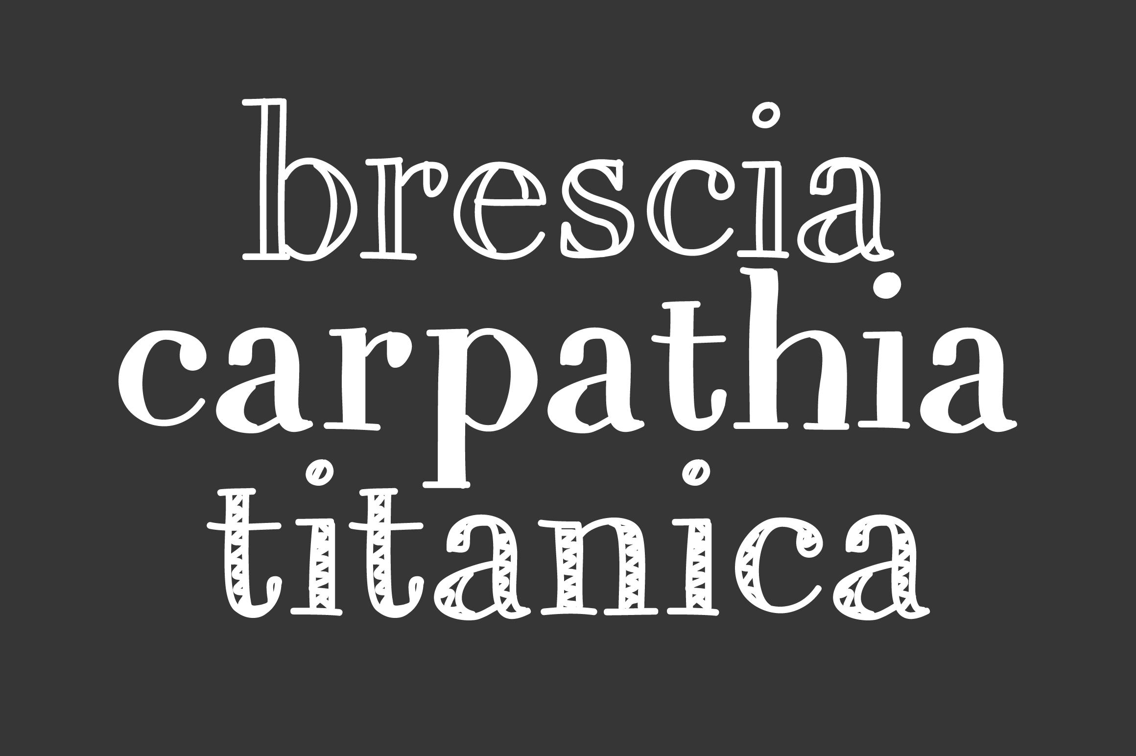 A Trio of Handwritten Serifs example image 3