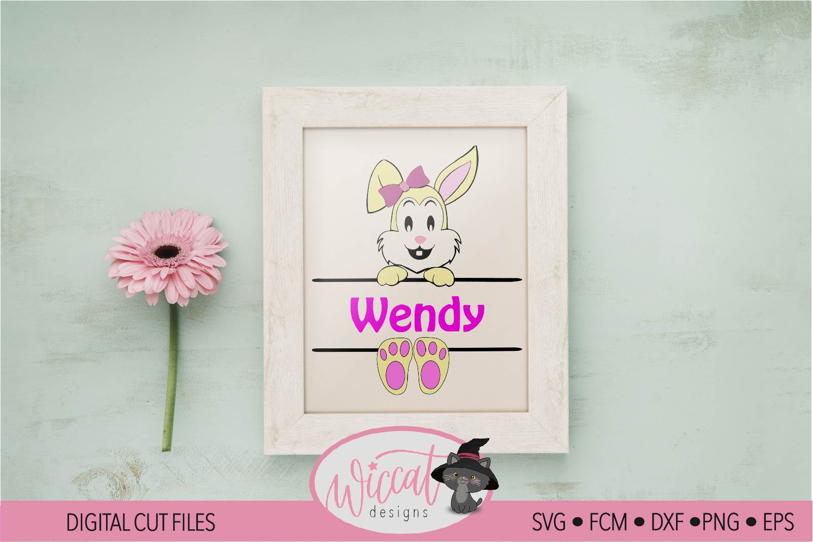 Easter Name banner, Easter bunny banner, example image 3