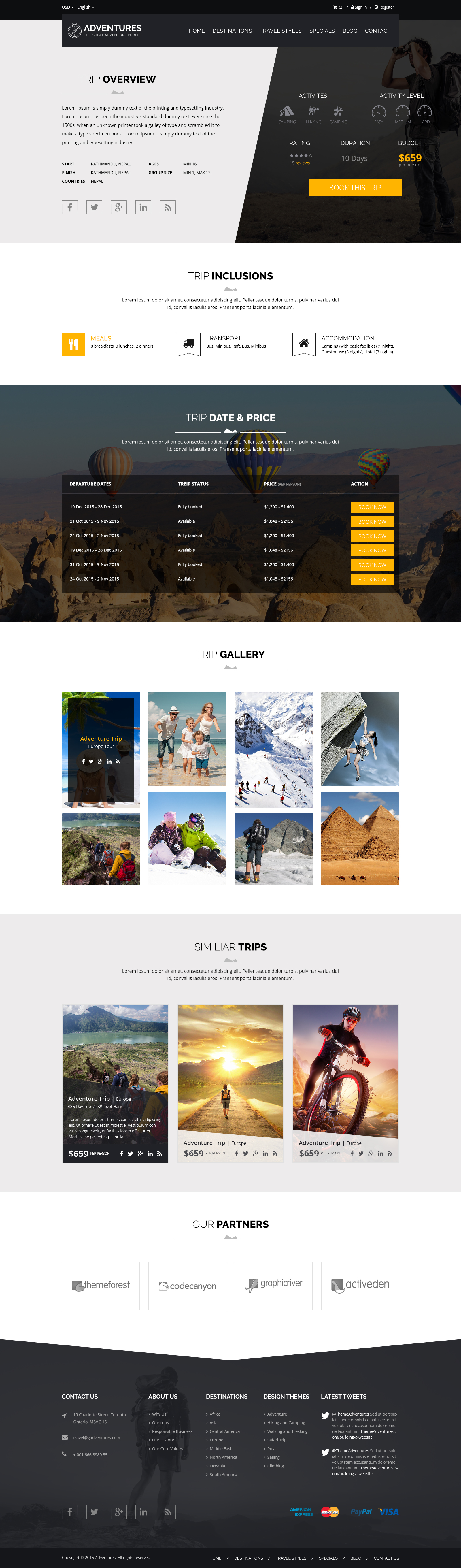 Adventures and Tour PSD Template example image 10
