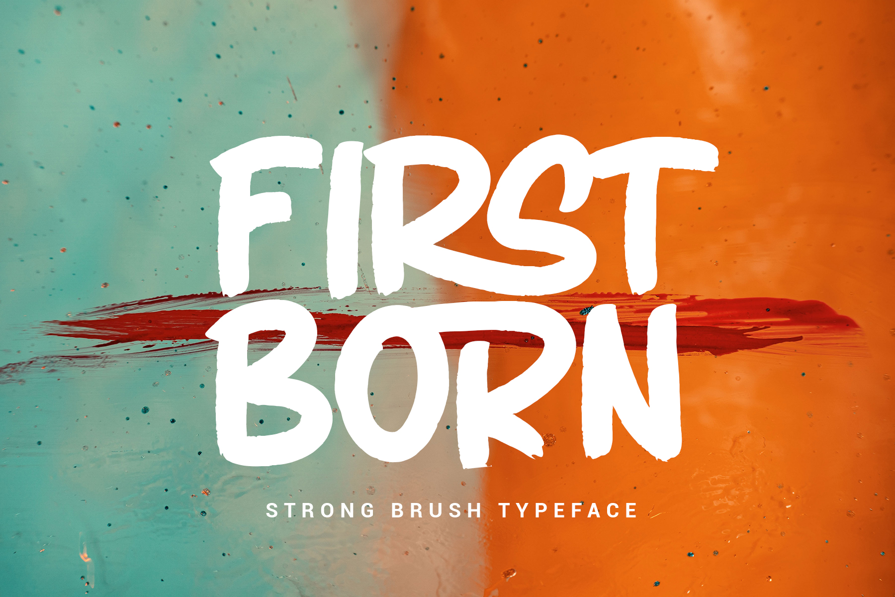 FIRSTBORN // BRUSH TYPEFACE example image 1