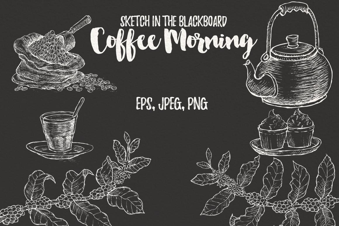 Watercolor Coffee (promo 50%) example image 4