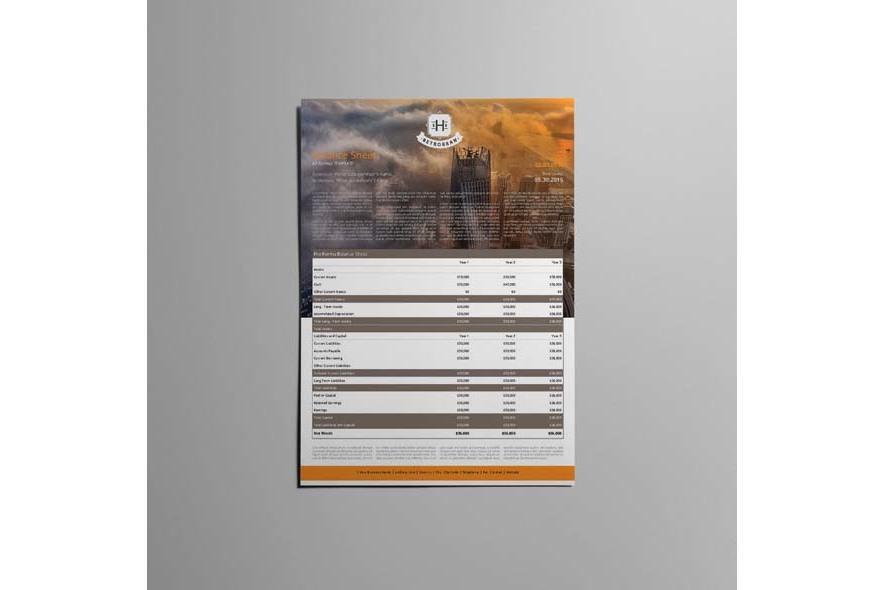 Company Balance Sheet A3 Template example image 2