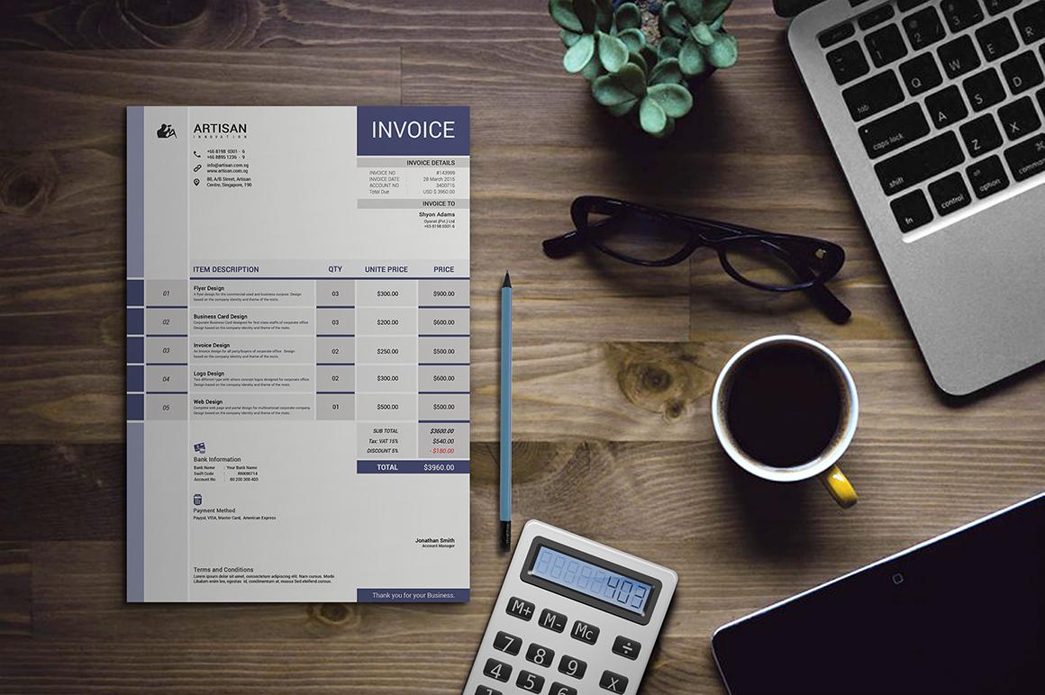 Invoice example image 1
