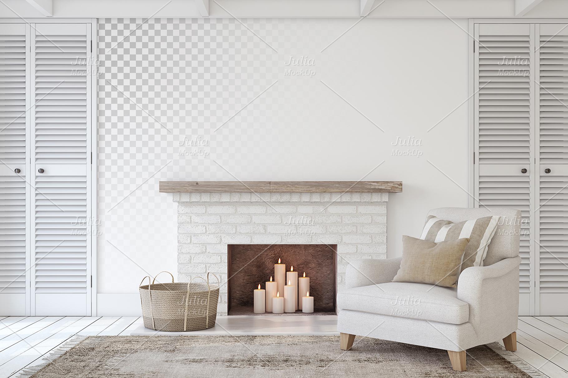 Farmhouse Style. Wall&Frames Mockup. example image 8