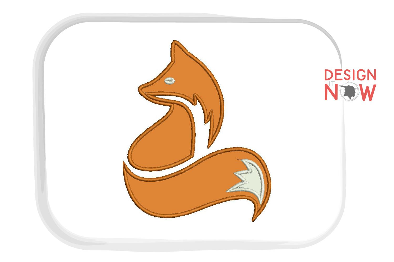 Fox Applique Design, Fox Embroidery Design, Wild Animals example image 2