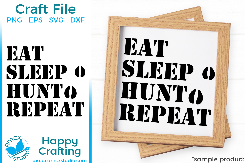 East Sleep Hunt Repeat, Hunting SVG example image 1