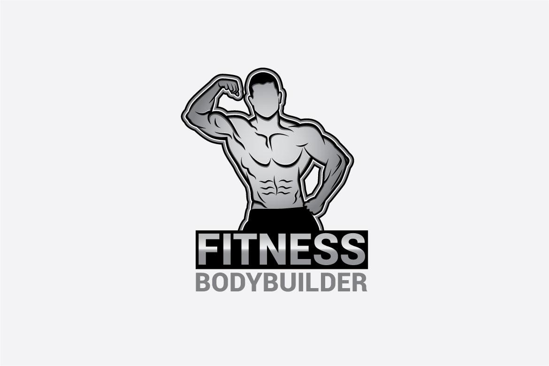 bodybuilder logo 3 example image 2
