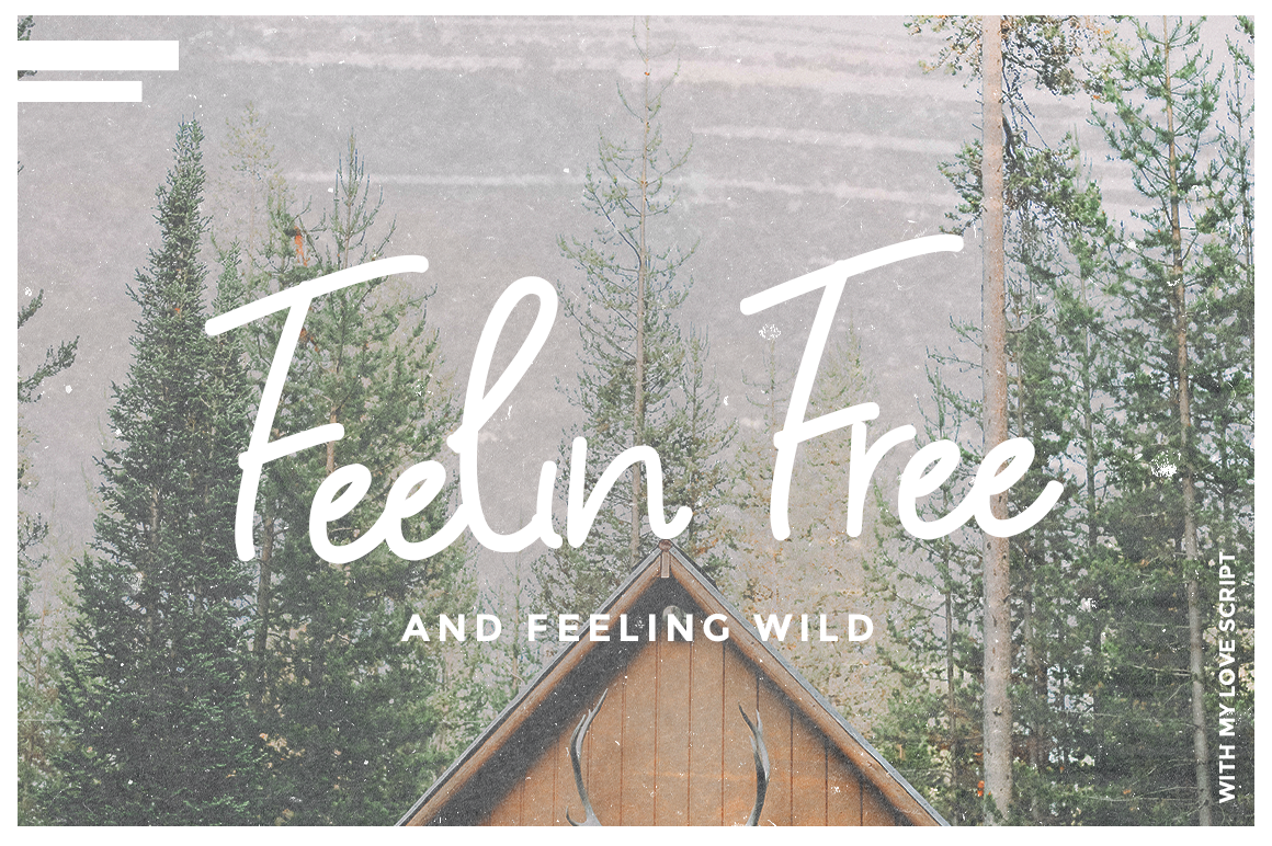 With My Love Script Font example image 6